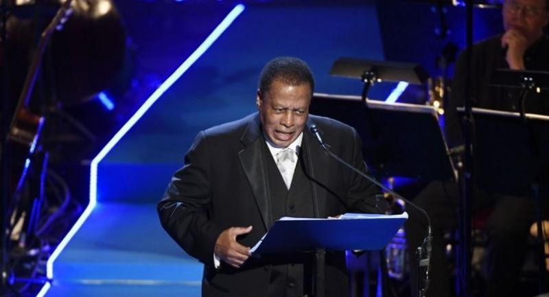 File photo: US jazz saxophonist Wayne Shorter gives his acceptance speach during the Polar music prize ceremony in Stockholm, June 15, 2017. // AFP PHOTO