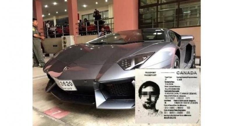 One of the Lamborghini sports cars owned by Alexander Cazes Photo Thaivisa.