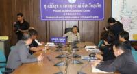 Governor Norraphat held a meeting with Patong Police officers and Patong Mayor Chalermluk Kebsup. Photo: Phuket PR