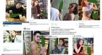 A collage of Thai celebrities' controversial posts with photos of themselves with a beer, which made headlines in 2015 as such posts violated the Alcoholic Beverage Control Act bans.