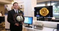 Mahidol University's astrophysics and space physics expert, Professor David John Ruffolo, with his invention about the likely effects on Earth of a solar storm.