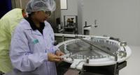 GPO staff is working on the vaccine production line in GPO flu vaccine factory in Saraburi.