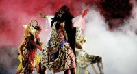 Battle of elegance: A fight scene in the Srikandi Larasati Kembar drama episode. Photo/The Jakarta Post