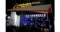 A sign of Alibaba Group is seen during the third annual World Internet Conference in Wuzhen town of Jiaxing, Zhejiang province, November 16, 2016.[Photo/Agencies]
