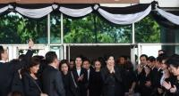 Yingluck at the court on August 1. File photo/ Nation