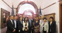 AMCHAM Myanmar delegation to Myanmar with US Ambassador Scot Marciel in late July.  (Photo- AMCHAM Myanmar)