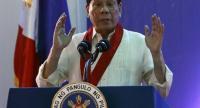 Philippine President Rodrigo Duterte delivers his speech during the 113th anniversary rites of the Bureau of Internal Revenue (BIR) in Quezon City, east of Manila, Philippines, 02 August 2017. /EPA