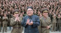 North Korean leader Kim Jong-Un (C) inspects the Command of the Strategic Force of the Korean People's Army (KPA) at an undisclosed location. /AFP