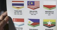 The Indonesian flag is depicted upside down in a Kuala Lumpur SEA Games 2017 booklet at Malaysia, 20 August 2017.  // EPA PHOTO