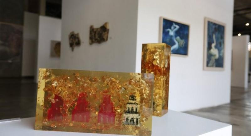 """The """"Vietnamese Contemporary Art Exhibition in Thailand 2017"""" is on at Rachadamnoen Contemporary Art Centre on Rachadamnoen Klang Avenue near the Democracy Moment until August 31.Photo courtesy of OCAC"""