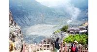 Mount Tangkuban Perahu is great for hiking with its three photogenic craters.