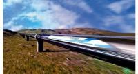 Rendering depicts a hyperloop train.