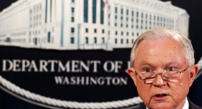 US Attorney General Jeff Sessions speaks regarding the Deferred Action for Childhood Arrivals (DACA) program on September 5, 2017, at the Justice Department in Washington, DC. /AFP