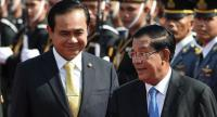 File photo: Prayut Chan-o-cha (L) and Hun Sen (R)
