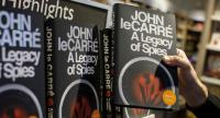 Copies of 'A legacy of Spies' a new novel by English author John Le Carre are on sale at a bookshop in central London on September 7, 2017./AFP