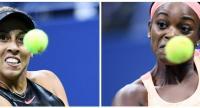 US tennis players Madison Keys  and Sloane Stephens