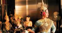 Prima ballerina Chap Chamroeun Tola warms up before the Cambodian Royal Ballet makes its Hong Kong debut. /The Phnom Penh Post