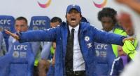 Chelsea's Italian head coach Antonio Conte gestures on the touchline during the English Premier League football match between Leicester City and Chelsea.