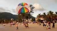 File photo: Parasail landing on Patong Beach // Phuket Gazette