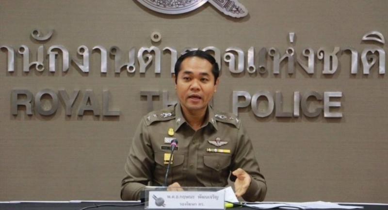 Deputy national police spokesman Colonel Krissana Pattanacharoen.