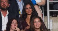 Meghan Markle, said to be Prince Harry's girlfriend, watches the opening ceremonies of the Invictus Games in Toronto, Ontario, September 23.//AFP