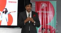 Vikram Sinha, acting CEO of Ooredoo Myanmar, at the launch of M-Pitesan on September 28 (Photo- Khine Kyaw, Myanmar Eleven).
