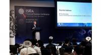 Deputy Prime Minister Teo Chee Hean delivering his keynote address at the Institute of Singapore Chartered Accountants Financial Forensic Conference.