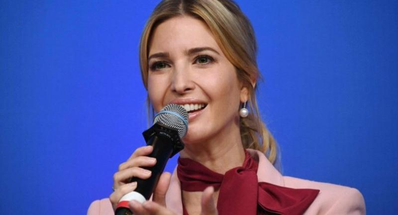 Ivanka Trump speaks during a session named