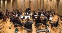 Rama Symphony Orchestra records the string section at Studio 28.