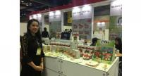 Rattanaporn Bantherngjit, managing director of I-Yha food products at her booth at Asean Trade Fair 2017 held in Seoul late last month.
