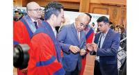 Dato Seri Setia Dr Awang Haji Zulkarnain bin Haji Hanafi, the Minister of Health tours an exhibition held on the sidelines of the 22nd Asean Federation of Cardiology Congress