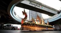 """A colourful parade for the Tourism Authority of Thailand's """"Amazing Thailand Tourism Year 2018"""" campaign, featuring decorated floats and performances by about 1,000 artists, is held yesterday in front of Siam Discovery Mall on Bangkok's Rama I Road."""