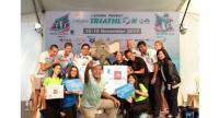 Athletes and officials at the Laguna Phuket Triathlon.