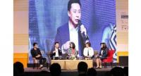 "Panellists  on the topic ""Thailand e-Commerce Opportunity, the Importance of  e-Commerce and the Challenge of Thai e-Commerce Entrepreneur Adaptation""  at the Thailand e-Commerce Week 2017, underway at the Queen Sirikit National  Convention Center"