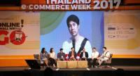 Panellists discuss the future of online trading at a Thailand e-Commerce Week event on Sunday.