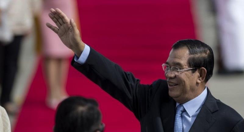 File photo : Hun Sen//AFP