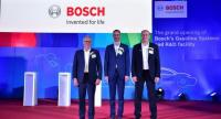 Left to right: Stefan Seiberth, President of Gasoline Systems, Robert Bosch GmbH,  Jan Scheer, Deputy of Mission and Head of Economic Affairs, Embassy of the Federal Republic of Germany in Bangkok, and Martin Hayes, President Bosch Southeast Asia.