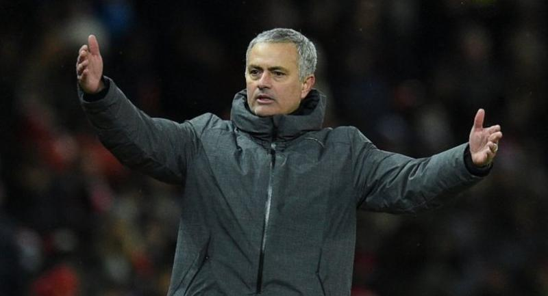 Manchester United's Portuguese manager Jose Mourinho gestures on the thouchline during the English Premier League football match between Manchester United and Manchester City at Old Trafford in Manchester, north west England, on December 10, 2017.