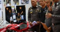 Thai police officials speak during a press conference about the arrest of an Australian national as they say she belongs to a drug gang in Bangkok on December 12.//AFP