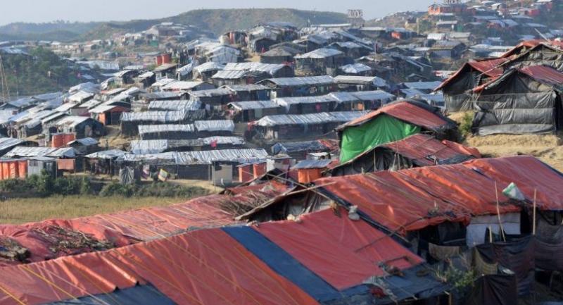 The Jamtoli refugee camp near Cox's Bazar, Bangladesh.//EPA-EFE
