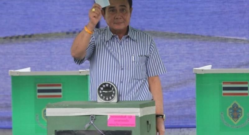 file photo : PM Gen Prayut Chan-o-cha casts vote in the referendum on the then-charter draft in August last year