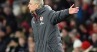 Arsenal's French manager Arsene Wenger gestures on the touchline during the English Premier League football match between Arsenal and Newcastle United.