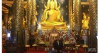 PM Prayut pays worship to Phra Phuttha Chinnarat at Wat Phra Si Rattana Mahathat in Phitsanulok province