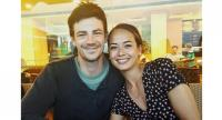 Lovebirds: Gustin and Thoma plan to hold their wedding reception in the United States sometime next year.
