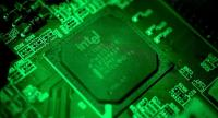 A close-up photo showing an Intel computer circuit board displayed in Duesseldorf, Germany, 04 January 2018./EPA-EFE/SASCHA STEINBACH