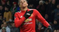 Manchester United's English midfielder Jesse Lingard celebrates scoring the opening goal during the English FA Cup third round football match between Manchester United and Derby County at Old Trafford in Manchester, north west England.