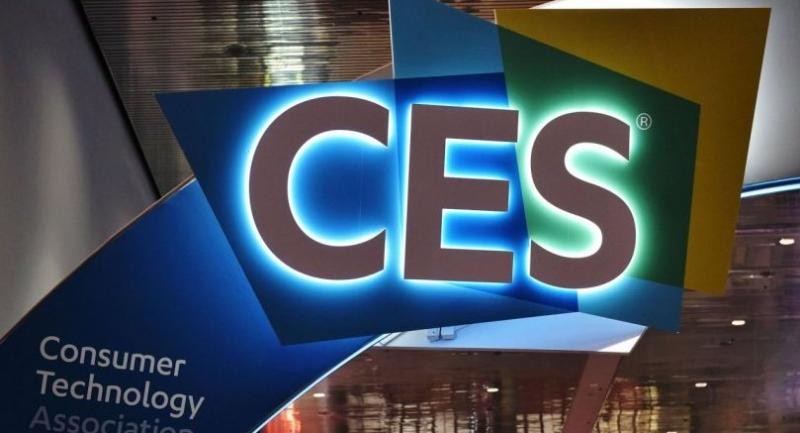 An illuminated CES sign is seen inside of the Las Vegas Convention Center ahead of the opening of the 2018 Consumer Electronics Show in Las Vegas on January 6, 2018. The 2018 CES runs from January 9-12. / AFP PHOTO