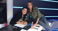 Tammy and former top 10 player Daniela Hantuchova at Fox Sports Studio in Singapore.