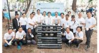 SCG's management and staff join together to do fish homes at Chanthaburi province.