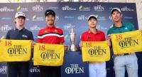 Danthai Boonma, second from left, and Jazz Janewattananond, second from right, earn their slots into The OPen.